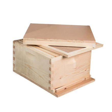 GoodLand Bee Supply GL-1BK Beekeeping Single Deep Beehive Kit includes Frames, Foundations, Brood Box,  Spacer, Entrance Reducer, Inner Cover, Top and Bottom