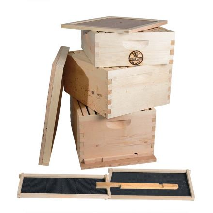 Goodland Bee Supply GL3STACK Complete 3 Tier Beginners Bee Hive Kit