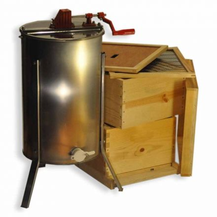 Goodland Bee Supply GLE2STACK 2 Frame Honey Extractor with Complete Beginners Bee Hive Tool Kit