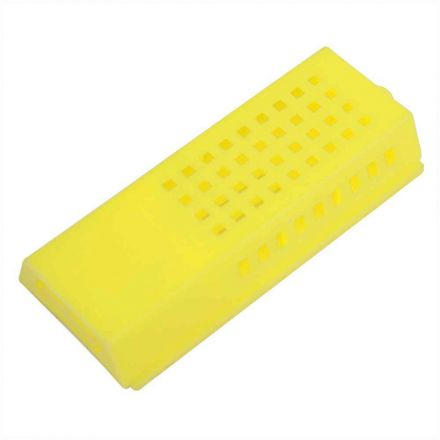 """Good Land Bee Supply GLQCAGE-Y Queen Bee Cage Yellow Plastic - 3"""" x 1-1/2"""" x 1/2"""""""