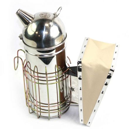 Good Land Bee Supply GLSMKR Beekeeping Beehive Smoker Stainless Steel w/Heat Shield