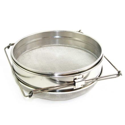 Good Land Bee Supply GLSTRAINER Food Grade 304 Double Sieve Stainless Steel Bucket Top Honey Strainer, Filter for Honey processing / Extraction and Filter