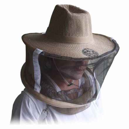 Goodland Bee Supply GL-VEIL-LG Professional Beekeeping Beekeepers Hat Veil for Bee Protection During Beehive Maintenance