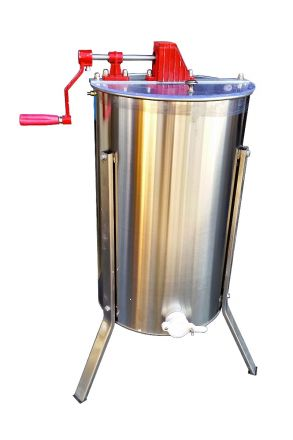 GoodLand Bee Supply HE2MAN 2 Frame Beekeeping 304 Stainless Steel Drum Honey Extractor With Stand - Manual