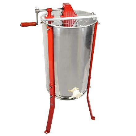 GoodLand Bee Supply HE3MAN 3 Frame Beekeeping 304 Stainless Steel Drum Honey Extractor With Stand - Manual